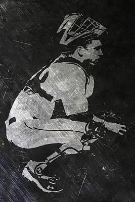 Buster Posey San Francisco Giants Art Poster by Joe Hamilton