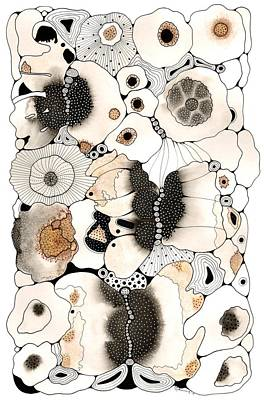 Butterflies And Seed Pods Poster by Marian Fannon Christian