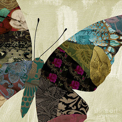 Butterfly Brocade II Poster by Mindy Sommers