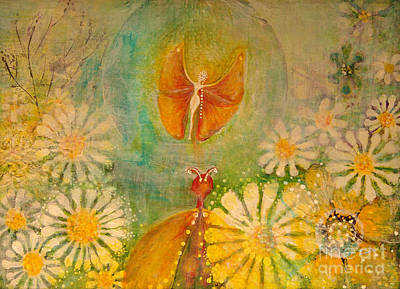 Butterfly Courtship Dance Poster by Art by Ela
