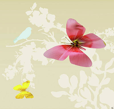 Butterfly Floral  6 Poster by Debra     Vatalaro