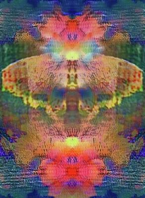 Butterfly In Flowers Poster by Kristin Sharpe