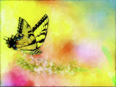 Butterfly Love Poster by Ches Black