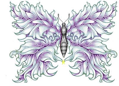 Butterfly Tattoo 2 Poster by Karen Musick
