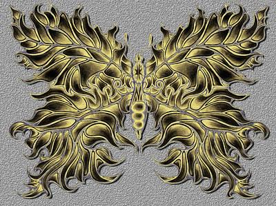 Butterfly Tattoo Poster by Karen Musick