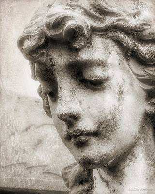 By Grace  Cemetery Angel Statuary Poster by Melissa Bittinger