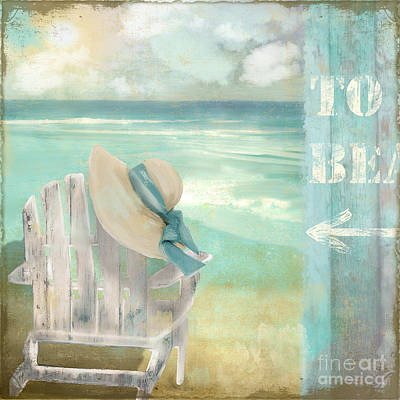 By The Sea Poster by Mindy Sommers