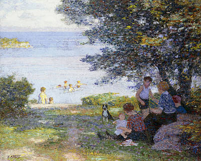 By The Water Poster by Edward Henry Potthast