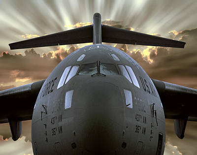 C-17 Globemaster Military Transport Aircraft Poster by Daniel Hagerman
