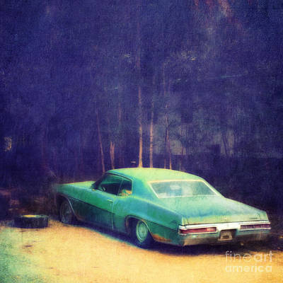 The Old Car Poster by Priska Wettstein