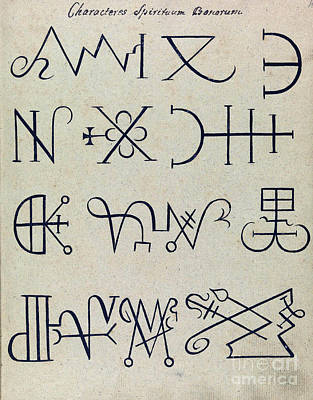 Cabbalistic Signs And Sigils, 18th Poster by Wellcome Images