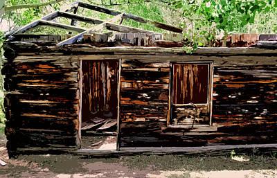 Cabin In The Woods Poster by Ellen Heaverlo