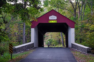 Cabin Run Covered Bridge - Bucks County Pa Poster by Bill Cannon