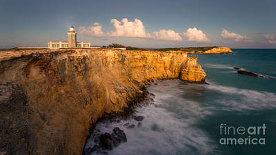 Cabo Rojo Lighthouse At Dusk Poster by Ernesto Ruiz