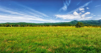 Cades Cove Meadow Poster by Frank J Benz