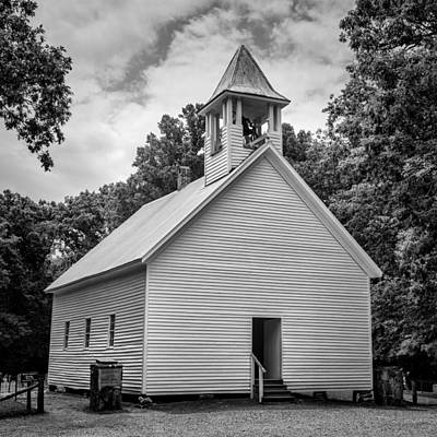 Cades Cove Primitive Baptist Church - Bw 1 Poster by Stephen Stookey