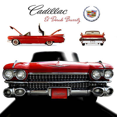 Cadillac 1959 Poster by Gina Dsgn