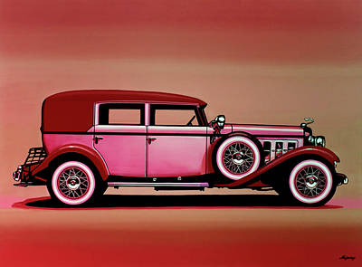 Cadillac V16 Mixed Media Poster by Paul Meijering
