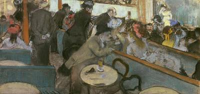 Cafe Concert Poster by Edgar Degas