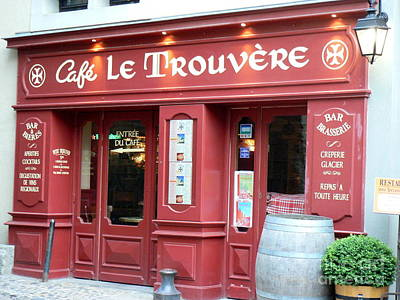 Cafe Le Trouvere Poster by France Art