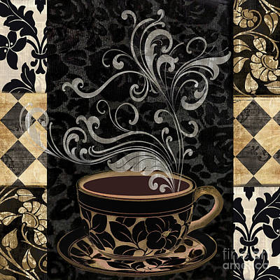 Cafe Noir I Poster by Mindy Sommers