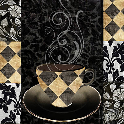 Cafe Noir Iv Poster by Mindy Sommers