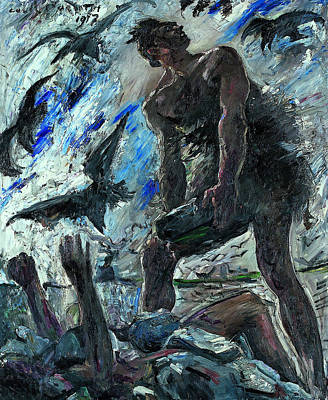 Cain Poster by Lovis Corinth