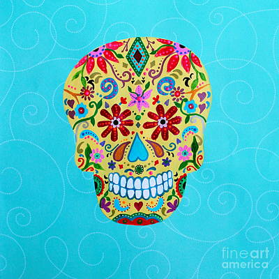 Calavera Sugar Skull I Poster by Pristine Cartera Turkus