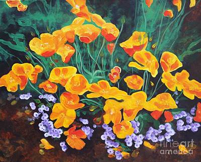 California Poppies Poster by Amanda Schuster