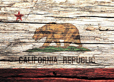 California State Flag 1w Poster by Brian Reaves