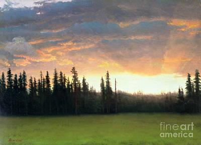 California Sunset Poster by Albert Bierstadt