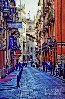 Calle De Mendoza - Valencia - Valencia Poster by Mary Machare
