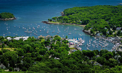 Camden Harbor Maine From Mount Battie 2 Poster by David Smith