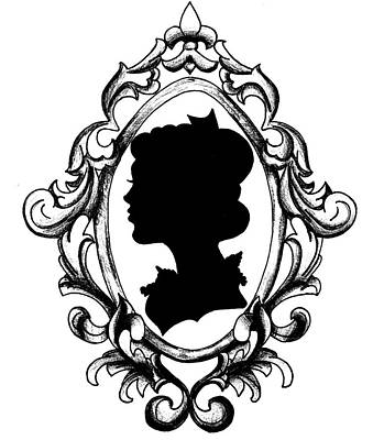 Cameo Silhouette Poster by Jesse Temple