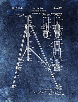 Camera Tripod Patent Poster by Dan Sproul