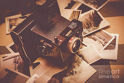 Cameras And Scattered Photos Poster by Jorgo Photography - Wall Art Gallery