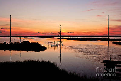 Cameron Louisiana Sunset Poster by Scott Pellegrin