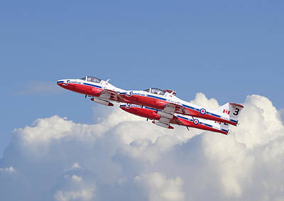 Canadian Air Force Aerobatic Team - Snowbirds Poster by Pat Speirs