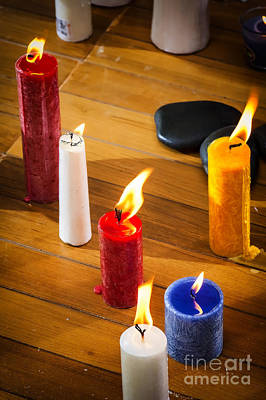 Candles Poster by Charuhas Images