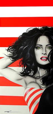Selma Hayek - ' Candy Girl II ' Poster by Christian Chapman Art