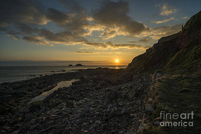 Cape Cornwall Sunset  Poster by Rob Hawkins