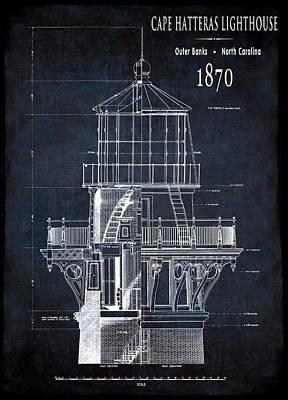 Cape Hatteras Lighthouse Plain Poster by Daniel Hagerman