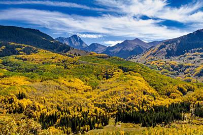 Capitol Peak In Fall Color Poster by Teri Virbickis