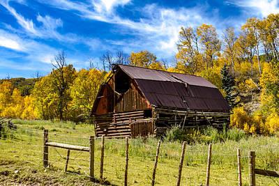 Capitol Peak Road Historic Barn Poster by Teri Virbickis