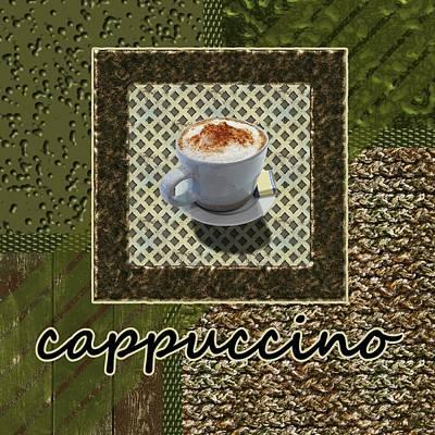 Cappuccino - Coffee Art - Green Poster by Anastasiya Malakhova