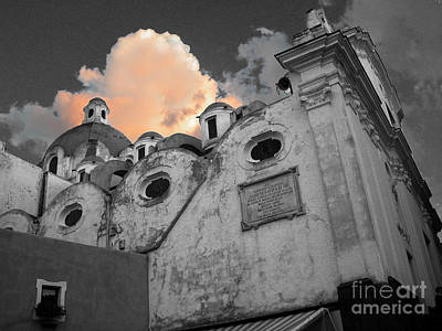 Dusk Poster featuring the photograph Capri Church by Jim Wright