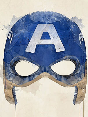Captain America Poster by Bri B