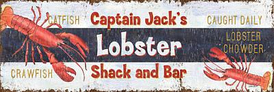 Captain Jack's Lobster Shack Poster by Debbie DeWitt