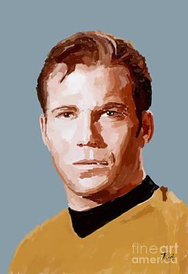 Captain James T Kirk Handmade Portrait Poster by Pablo Franchi