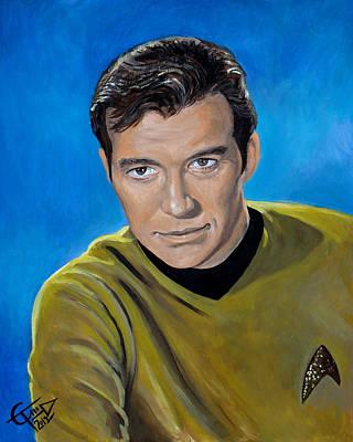 Captain Kirk Poster by Tom Carlton